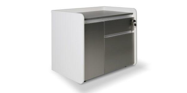 فایل چرخدار لارک 4 عضوی از مجموعه کارشناسی لارک F، دارای امکاناتی از قبیل محفظه جای کیس، فایل دو کشو و فضای مناسب برای لوازم کاربردی است.
