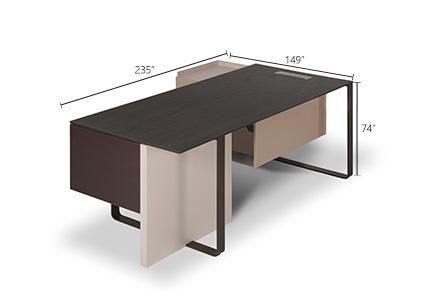 ابعاد میز مدیریت دنا