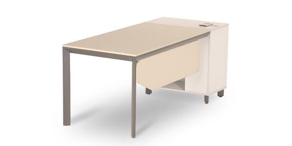 میز کارمندی نکا B از مجموعه کارمندی مدولار نکا، دارای فضایی برای قرار دادن کیس با تهویه مناسب میباشد. این محصول مجهز به الکتریک باکس مناسب با کاربری برق ، تلفن و شبکه میباشد.