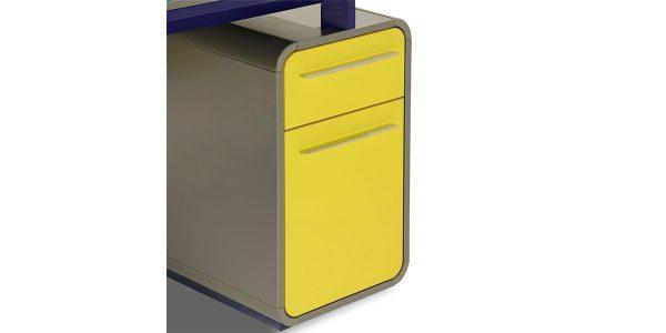 میز کارمندی نکا G ، از مجموعه کارشناسی نکا، دارای فایل دو کشو با قابلیت بایگانی پرونده است. وجود محفظه قرارگیری دکوراتیو در قسمت جلوی میز، زیبایی قابل توجهی به آن داده است.