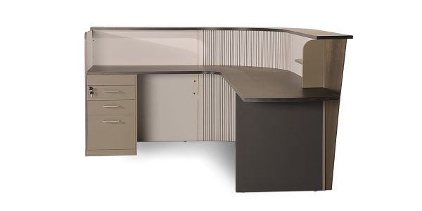 کانتر لاوان دارای فایل کشو جهت قرار دادن لوازم شخصی و پیشخوان پذیرش مشتری است.