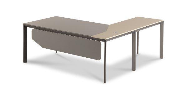 میز کارشناسی نکا F دارای میز ال داربا قابلیت افزودن فایل دو کشو چرخدار (تحریر+کشو) مخصوص بایگانی پرونده است.