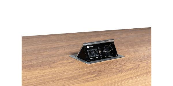 الکتریک باکس میز کنفرانس بیضی کاپری محصولی از جلیس- تلفن: 02189354